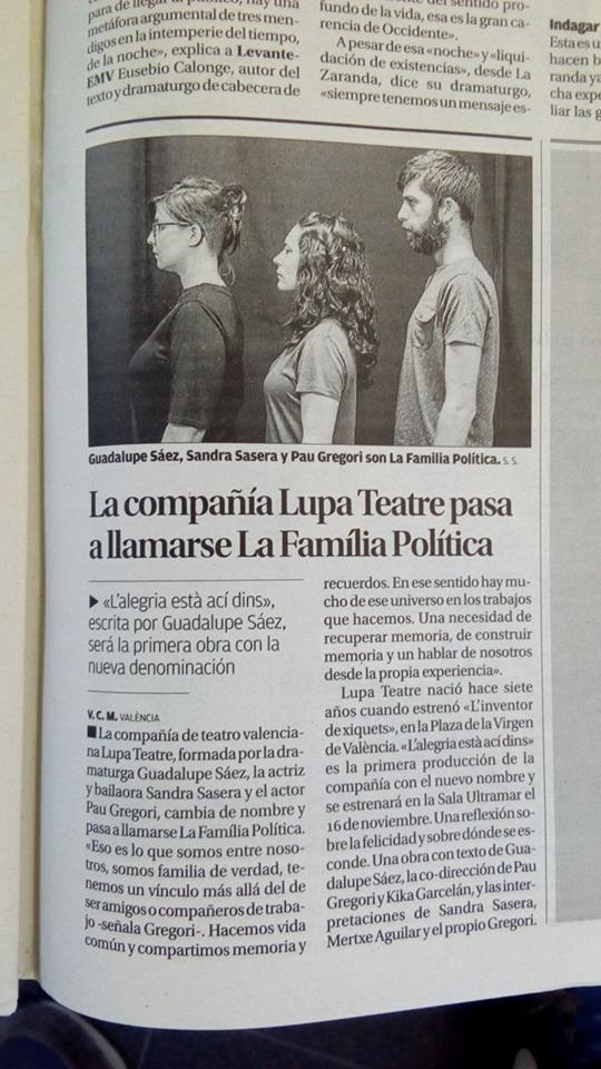 notícia diari levante. 19/oct/2017